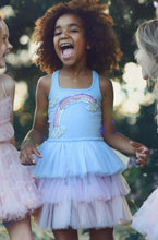 Load image into Gallery viewer, Honeypiekids | Ooh La La Couture Blue Rainbow Dress for DOLLS