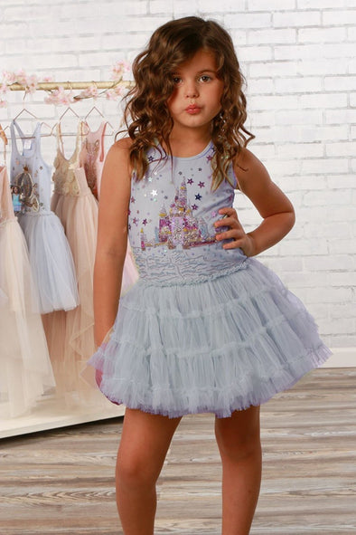 Honeypiekids | Ooh La La Couture Girls Cinderella's Castle Tutu Dress - Infant to Youth Sizes