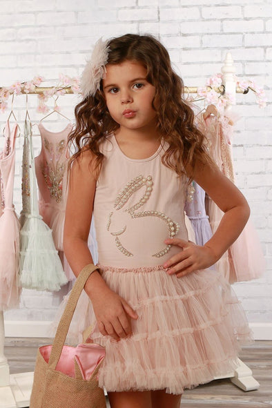Honeypiekids | Ooh La La Couture Girls Pink Bunny Shape Tutu Dress