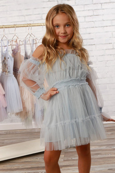 honeypiekids | Ooh La La Couture Girls Sky Blue Avery Dress.