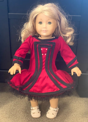 honeypiekids | Ooh La La Couture Holiday Nutcracker DOLL Dress in Red and Black.