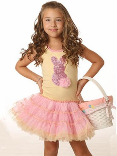 Honeypiekids | Ooh La La Couture Sequin Bunny Girls Dress