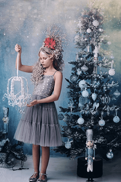 Honeypiekids | Ooh La La Couture Silver Snowflake Dress