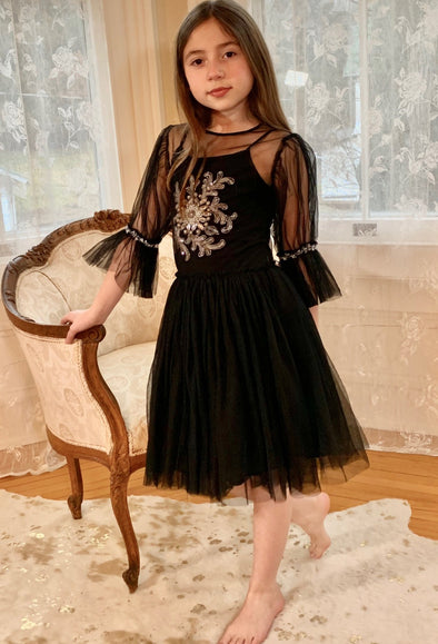 honeypiekids | Ooh La La Couture Vintage Patisserie Black Marjoline Dress.