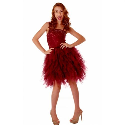 Honeypiekids | Ooh La La Couture Devin Dress in Burgundy