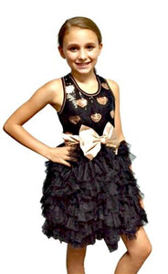 Ooh La La Couture Gold Hearts Sequin WOW Dream Dress - Honeypiekids.com