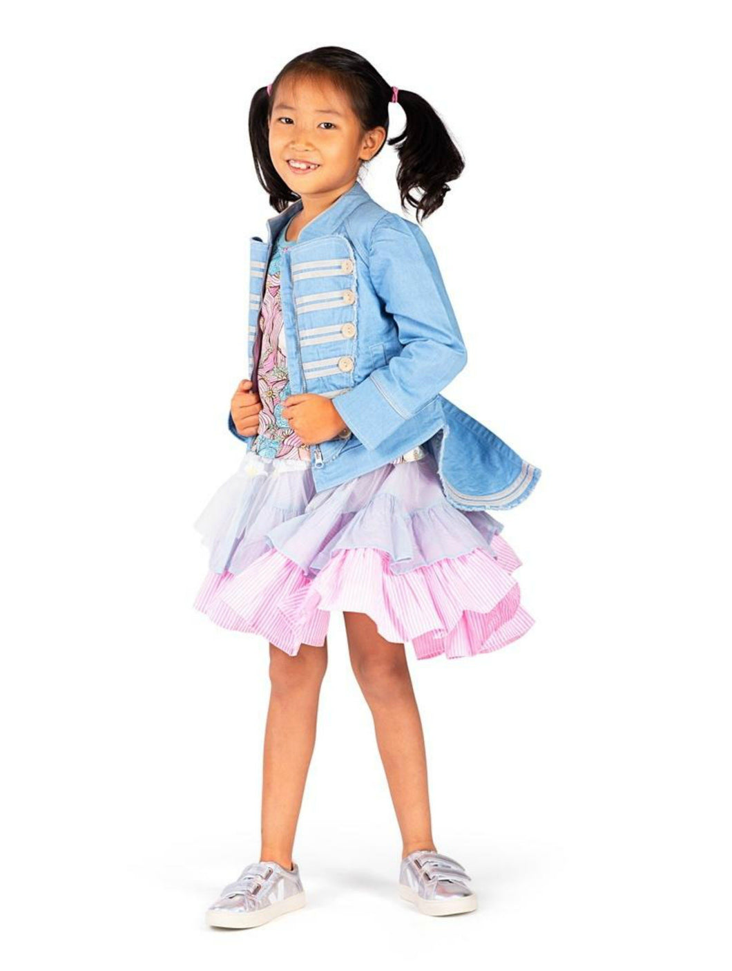 Paper Wings Girls Sequin Tulle Skirt | Honeypiekids