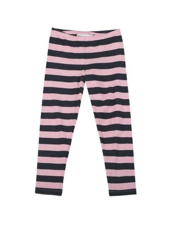 Honeypiekids | Paper Wings Pink Stripe Leggings