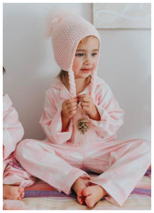 honeypiekids | Single Pom Knit Braids Hat-  2 Color Choices