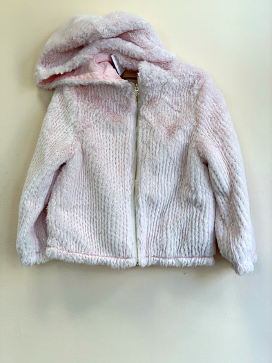 Honeypiekids | Lili Gaufrette Loulou zip up faux fur hooded jacket