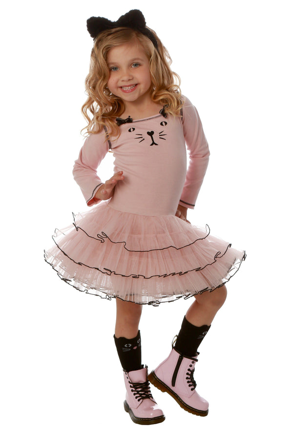 Honeypiekids | Ooh La La Couture Pink Kitty Tutu Dress