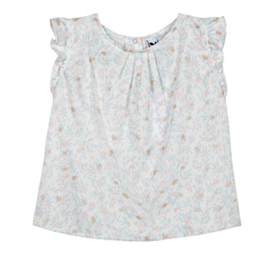 3Pommes Girls Poetic Garden Floral Tunic Blouse