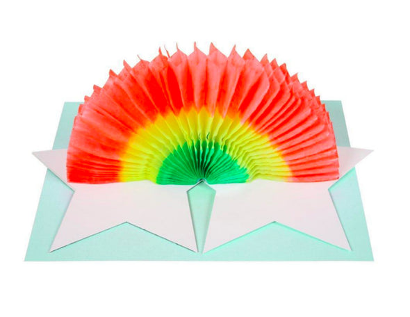 Honeypiekids | Meri Meri Standup Rainbow Honeycomb Birthday Card