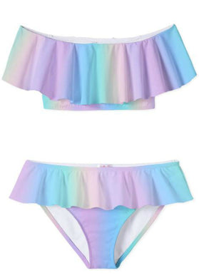 Stella Cove Rainbow Pastel Two Piece Swimsuit