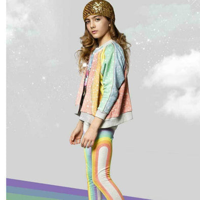 Honeypiekids | Paper Wings Organic Rainbows Girls Leggings