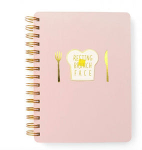 honeypiekids | RESTING BRUNCH FACE MEDIUM NOTEBOOK