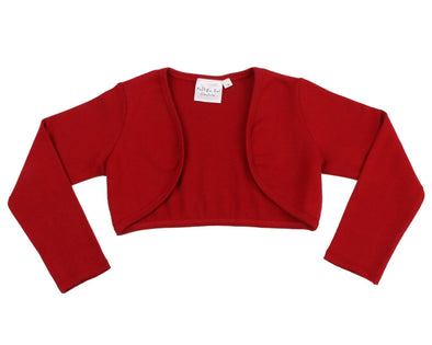 Honeypiekids | Ooh! La, La! Couture Knit Bolero Jacket In Red