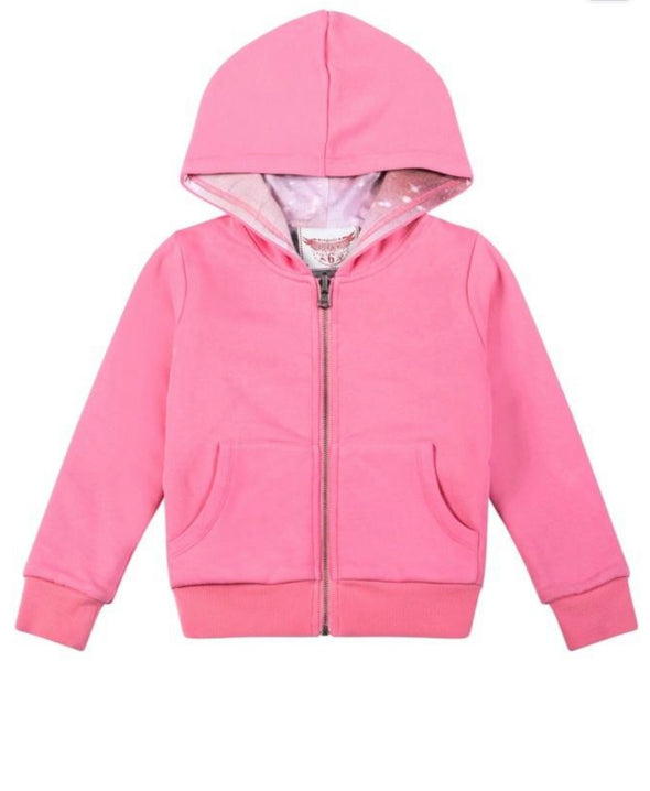 Honeypiekids | Paper Wings Reversible Raglan Pink & Unicorn at Dusk Hoodie