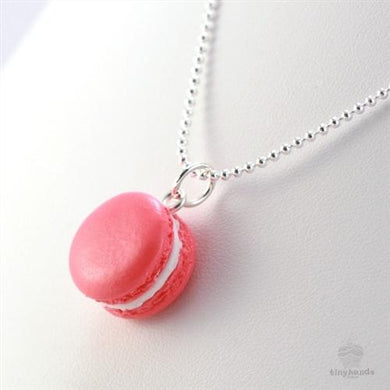 Tiny Hands Scented Rose French Macaron Necklace