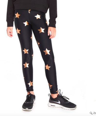Honeypiekids | Terez Girls Rose Gold Foil Leggings