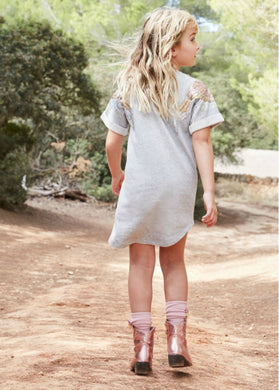 Angel's Face Sally Sweat Dress in Grey | Honeypiekids