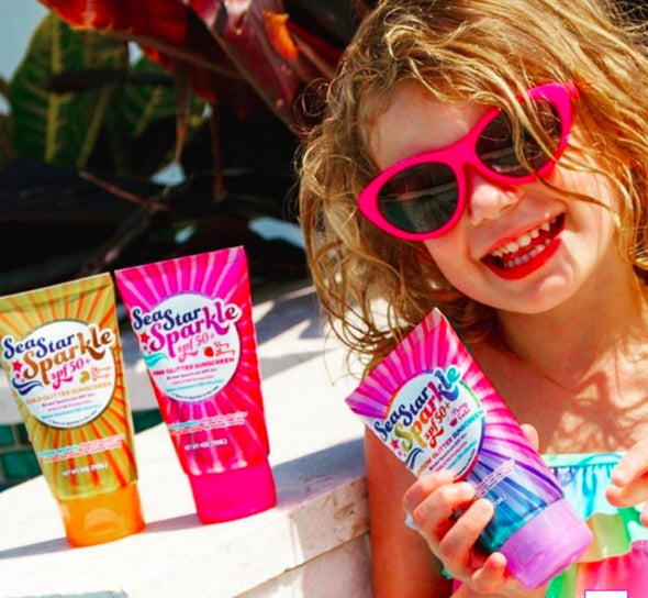 Honeypiekids | Sea Star Sparkle SPF 50+ Glitter Sunscreen - 7 scents to choose from