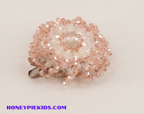 Honeypiekids | Sienna Likes To Party Girls Blushing Rose Crystal Hair Clip