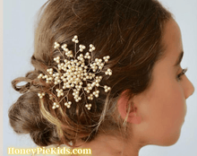 Load image into Gallery viewer, Honeypiekids | Sienna Likes To Party Girls Emmaline Pearl Crystal Hair Clip