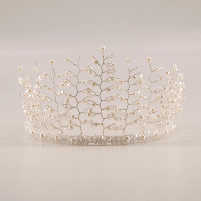 honeypiekids | Sienna Likes To Party Girls Love And Faith Freshwater Pearl Crown Headband..