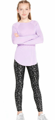 Terez Girls The Grinch Black & Silver Foil Leggings | Honeypiekids