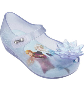 Mini Melissa Frozen Ultra 25 Blue Glass Glitter Mary Jane Shoes | Honeypiekids