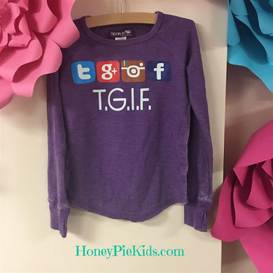 Sparkle by Stoopher Thermal TGIF Shirt | Honeypiekids