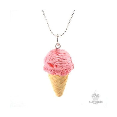 Tiny Hands Scented Berry Strawberry Ice Cream Necklace