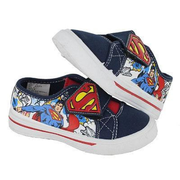 "honeypiekids | Man Of Steel ""Superman"" canvas velcro sneakers"
