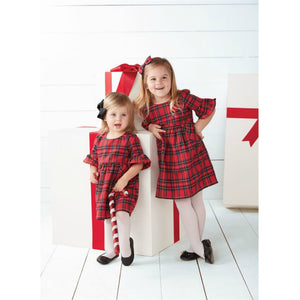 RED TARTAN PLAID DRESS & BLOOMER SET | Honeypiekids