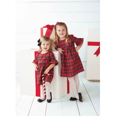 Honeypiekids | RED TARTAN PLAID DRESS & BLOOMER SET
