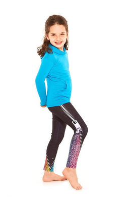 Terez Girls Glitter Zip Leggings | Honeypiekids