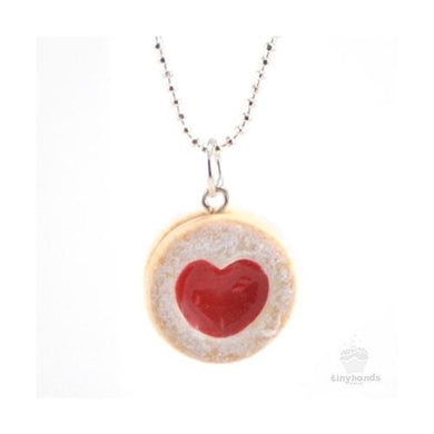 Tiny Hands Scented Strawberry Heart Cookie Necklace