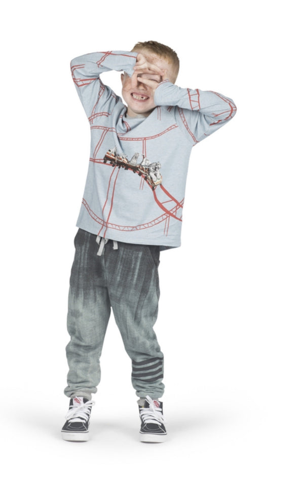 Honeypiekids | Paper Wings Boys Texta Ombre Charcoal Trackies