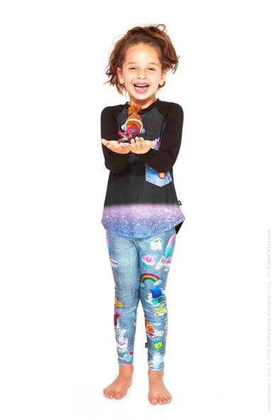 Honeypiekids | Terez Girls TROLLS Movie Denim Leggings