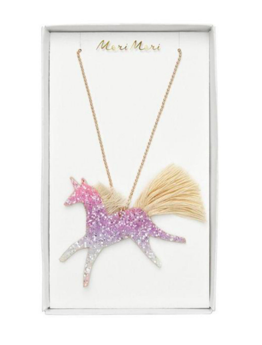 Meri Meri Glitter Unicorn Necklace - Honeypiekids.com