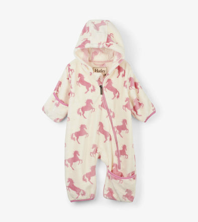 Honeypiekids | Hatley Infant Girls Horses Fleece Baby Bundler