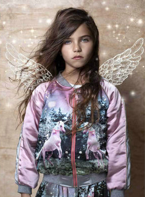Paper Wings Unicorn Satin Bomber - Honeypiekids.com