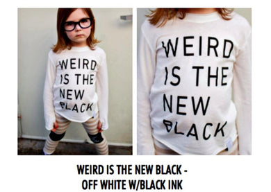 honeypiekids | Neve/Hawk Weird Is The New Black Shirt