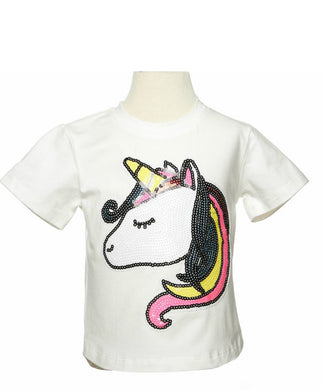 honeypiekids | Doe a Dear White Unicorn Tee