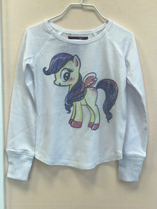 honeypiekids | Sparkle by Stoopher Pony Long Sleeve White Shirt