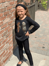 Load image into Gallery viewer, honeypiekids | 3Pommes Girls Black Sequin Wings Top