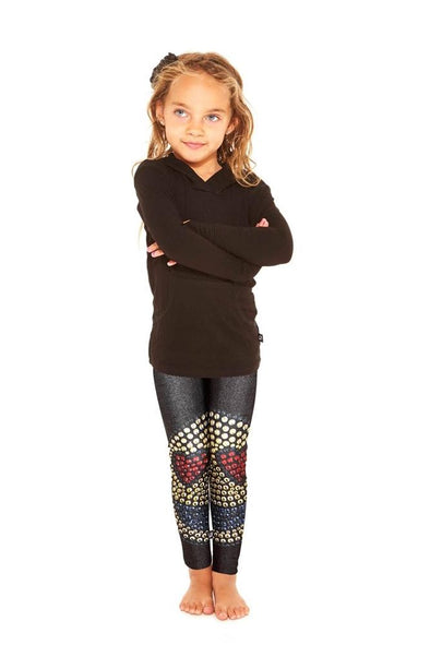 Honeypiekids | Terez Girls Limited Edition Emoji Heart Printed Leggings