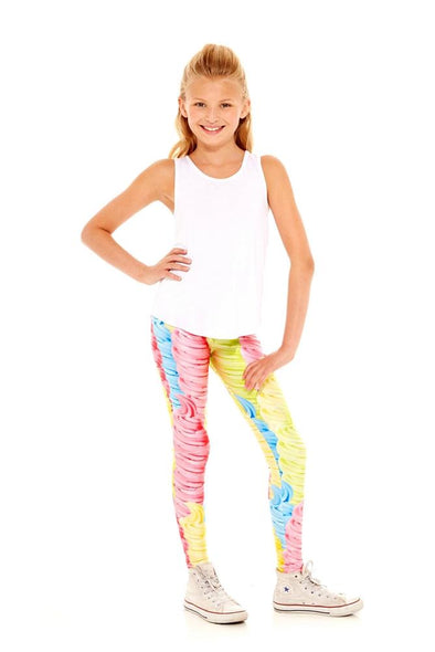 Honeypiekids | Terez Girls Soft Serve Swirl Leggings