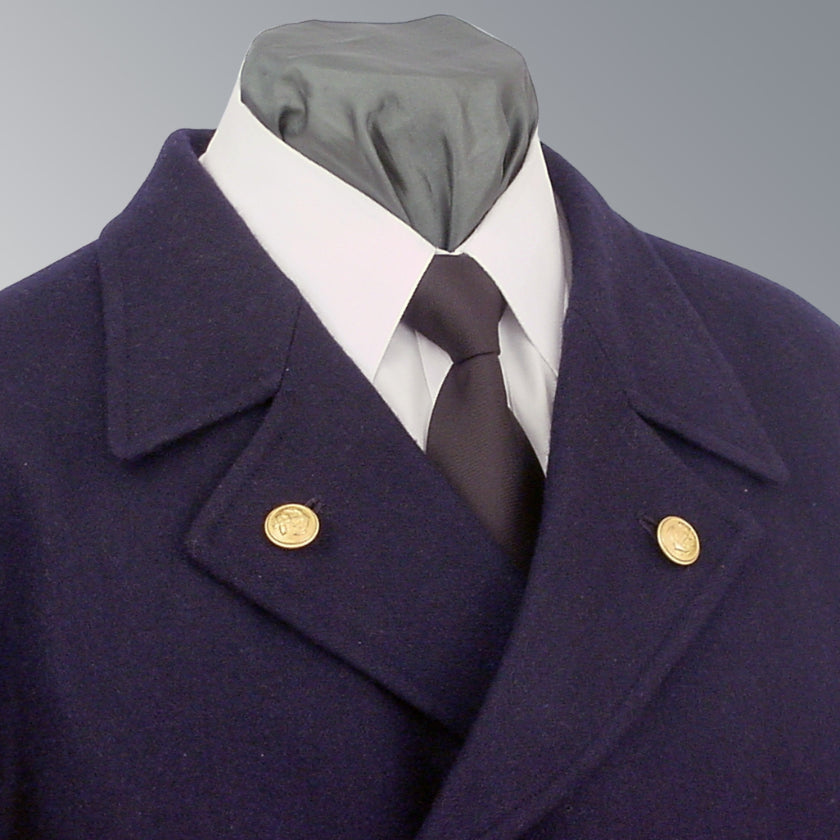 WWII German Kriegsmarine Navy Officer Uniform Blue Wool Pea Coat